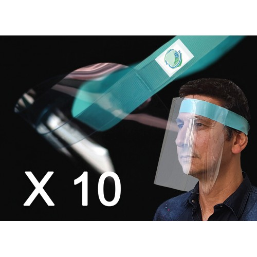 Pack 10  PREMIUM Face Shields Adult