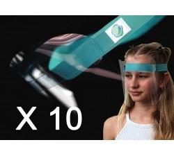 Pack 10 Visières Premium Adulte