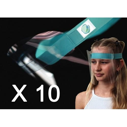 10  Adult PREMIUM Face Shields