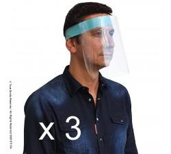 3  Adult PREMIUM Face Shields