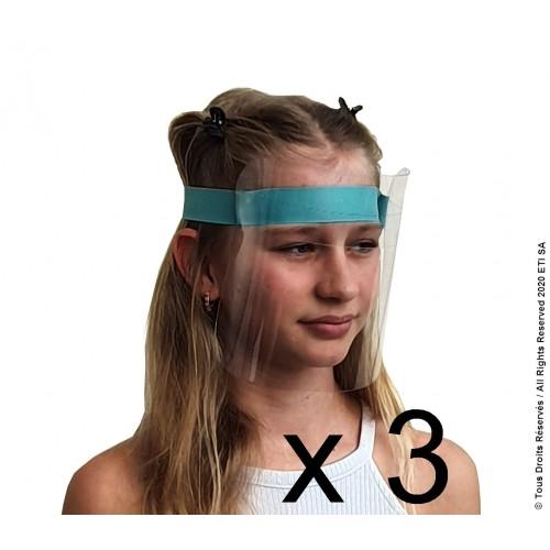 Pack 3 Visières Premium Enfant